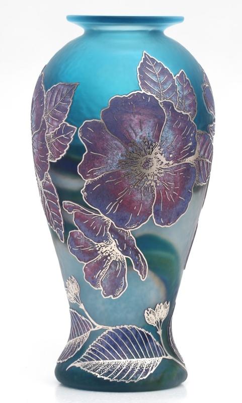 blue home ac oval vases com aqua amazon vase balloon dp recycled kitchen glass