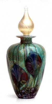 Cosmos glass perfume bottle