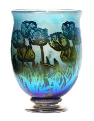 Cup-Cased Tulips vase