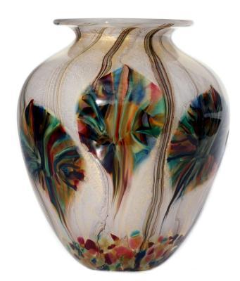 Tigers Eye amphora glass vase