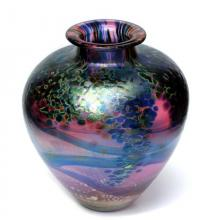 Monet Ruby squat vase